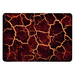 Lava Cracked Background Fire Samsung Galaxy Tab 8 9  P7300 Flip Case by Sapixe