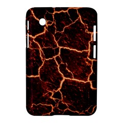 Lava Cracked Background Fire Samsung Galaxy Tab 2 (7 ) P3100 Hardshell Case  by Sapixe