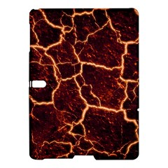 Lava Cracked Background Fire Samsung Galaxy Tab S (10 5 ) Hardshell Case  by Sapixe