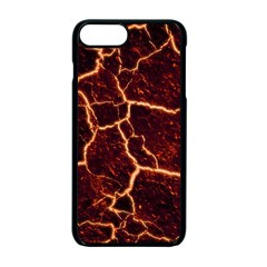 Lava Cracked Background Fire Apple Iphone 7 Plus Seamless Case (black) by Sapixe