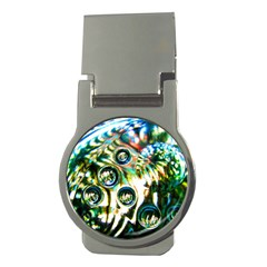 Dark Abstract Bubbles Money Clips (round)  by Jojostore