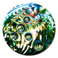 Dark Abstract Bubbles Magnet 5  (round) by Jojostore