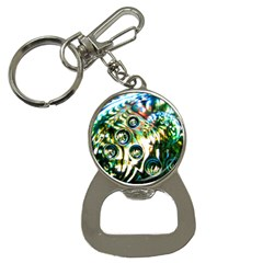 Dark Abstract Bubbles Bottle Opener Key Chains
