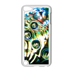 Dark Abstract Bubbles Apple Ipod Touch 5 Case (white) by Jojostore