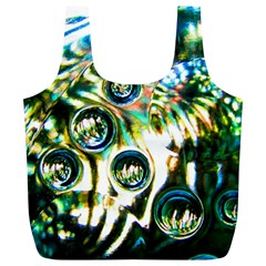 Dark Abstract Bubbles Full Print Recycle Bag (xl)