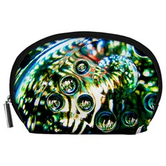 Dark Abstract Bubbles Accessory Pouch (large) by Jojostore