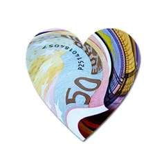 Abstract Currency Background Heart Magnet by Jojostore