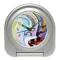 Abstract Currency Background Travel Alarm Clock