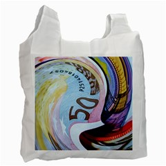 Abstract Currency Background Recycle Bag (two Side)