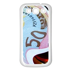 Abstract Currency Background Samsung Galaxy S3 Back Case (white)
