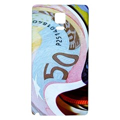Abstract Currency Background Samsung Note 4 Hardshell Back Case