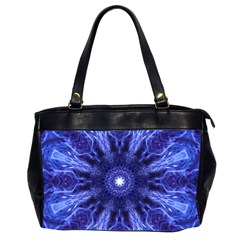 Tech Neon And Glow Backgrounds Psychedelic Art Oversize Office Handbag (2 Sides) by Jojostore