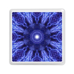 Tech Neon And Glow Backgrounds Psychedelic Art Memory Card Reader (square) by Jojostore