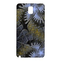 Fractal Wallpaper With Blue Flowers Samsung Galaxy Note 3 N9005 Hardshell Back Case