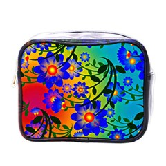 Abstract Background Backdrop Design Mini Toiletries Bag (one Side)
