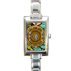 Kaleidoscope Dream Illusion Rectangle Italian Charm Watch