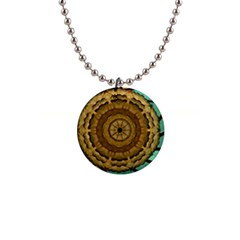 Kaleidoscope Dream Illusion 1  Button Necklace