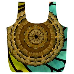 Kaleidoscope Dream Illusion Full Print Recycle Bag (xl) by Jojostore