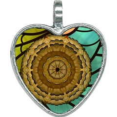 Kaleidoscope Dream Illusion Heart Necklace by Jojostore