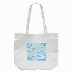 Blue Tiger Animal Pattern Digital Tote Bag (white)