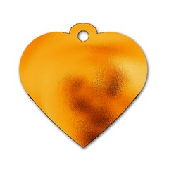 Blurred Glass Effect Dog Tag Heart (two Sides)