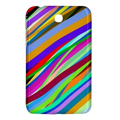 Multi Color Tangled Ribbons Background Wallpaper Samsung Galaxy Tab 3 (7 ) P3200 Hardshell Case  by Jojostore