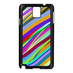 Multi Color Tangled Ribbons Background Wallpaper Samsung Galaxy Note 3 N9005 Case (black) by Jojostore