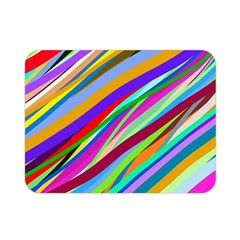Multi Color Tangled Ribbons Background Wallpaper Double Sided Flano Blanket (mini)