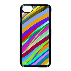 Multi Color Tangled Ribbons Background Wallpaper Apple Iphone 7 Seamless Case (black) by Jojostore
