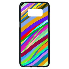 Multi Color Tangled Ribbons Background Wallpaper Samsung Galaxy S8 Black Seamless Case