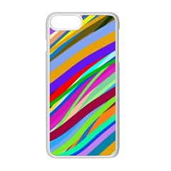 Multi Color Tangled Ribbons Background Wallpaper Apple Iphone 8 Plus Seamless Case (white) by Jojostore