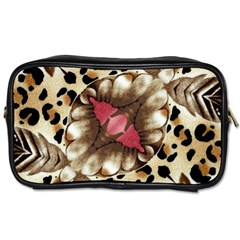 Animal Tissue And Flowers Toiletries Bag (one Side) by Jojostore