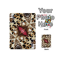 Animal Tissue And Flowers Playing Cards 54 (mini) by Jojostore