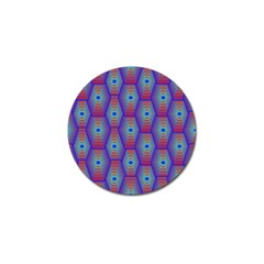 Red Blue Bee Hive Pattern Golf Ball Marker by Jojostore