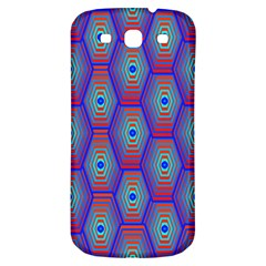 Red Blue Bee Hive Pattern Samsung Galaxy S3 S Iii Classic Hardshell Back Case by Jojostore