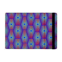 Red Blue Bee Hive Pattern Ipad Mini 2 Flip Cases