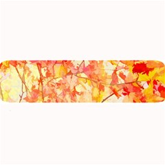 Monotype Art Pattern Leaves Colored Autumn Large Bar Mats by Jojostore