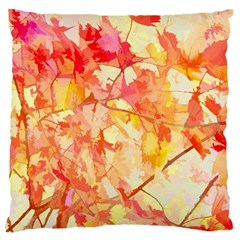 Monotype Art Pattern Leaves Colored Autumn Large Cushion Case (one Side) by Jojostore