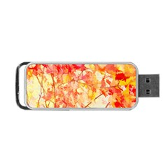 Monotype Art Pattern Leaves Colored Autumn Portable Usb Flash (two Sides) by Jojostore