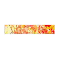 Monotype Art Pattern Leaves Colored Autumn Flano Scarf (mini) by Jojostore