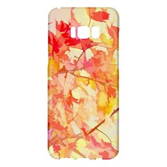 Monotype Art Pattern Leaves Colored Autumn Samsung Galaxy S8 Plus Hardshell Case