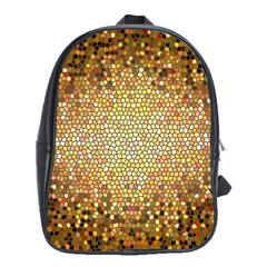 Yellow And Black Stained Glass Effect School Bag (large) by Jojostore