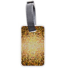 Yellow And Black Stained Glass Effect Luggage Tags (two Sides)