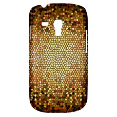 Yellow And Black Stained Glass Effect Samsung Galaxy S3 Mini I8190 Hardshell Case by Jojostore
