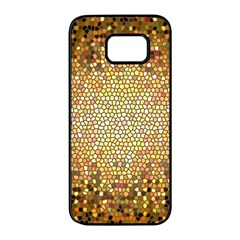 Yellow And Black Stained Glass Effect Samsung Galaxy S7 Edge Black Seamless Case by Jojostore