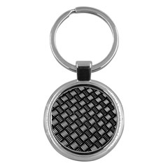 Abstract Of Metal Plate With Lines Key Chains (round)  by Jojostore
