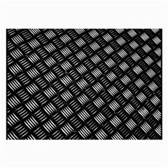 Abstract Of Metal Plate With Lines Large Glasses Cloth (2 Side)