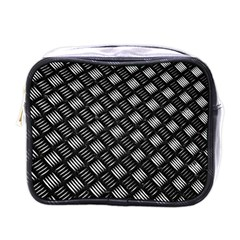 Abstract Of Metal Plate With Lines Mini Toiletries Bag (one Side)