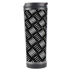 Abstract Of Metal Plate With Lines Travel Tumbler by Jojostore