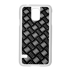 Abstract Of Metal Plate With Lines Samsung Galaxy S5 Case (white) by Jojostore